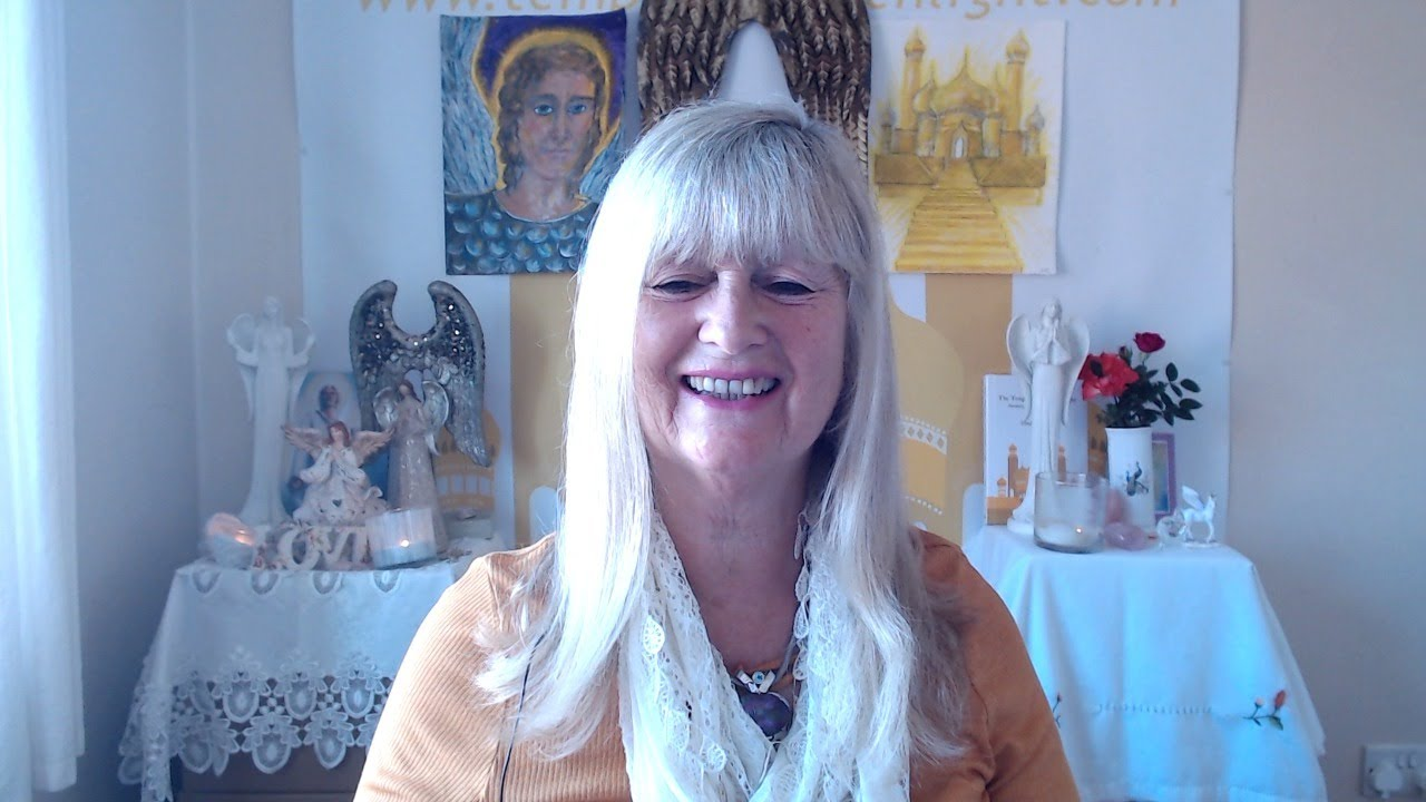 Linda with Archangel Michael and Archangel Faith