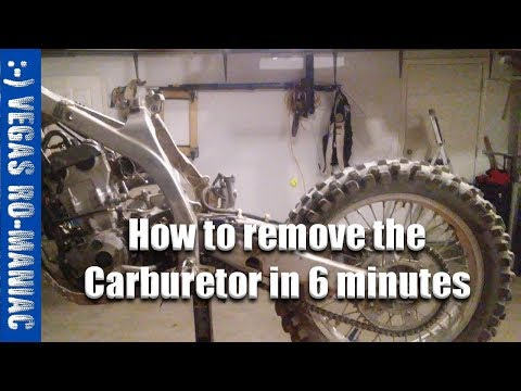 How to remove the Carburetor in 6 minutes or less Yamaha YZ250F