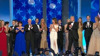 Trumps celebrate with first dance
