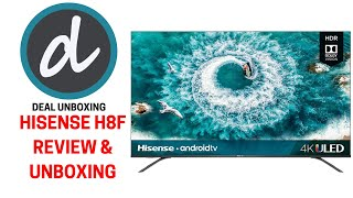 Hisense H8f 4k Uled Hdr10 Android Smart Tv Review Andamp Unboxing - 4k Tv As Pc Monitor