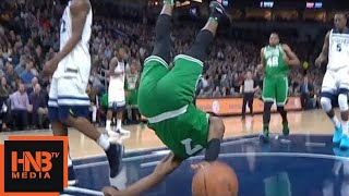 Jaylen Brown - terrible fall / Celtics vs Timberwolves
