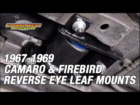 How To Install Reverse Eye Leaf Spring Mounts On 1967-69 Camaro And Firebird. LSB-79