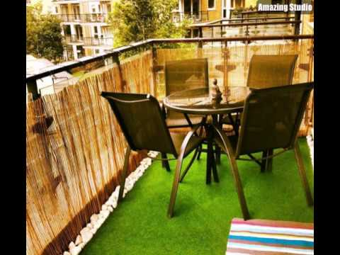 Bambus Balkon Gruner Teppich Schone Mobel Youtube