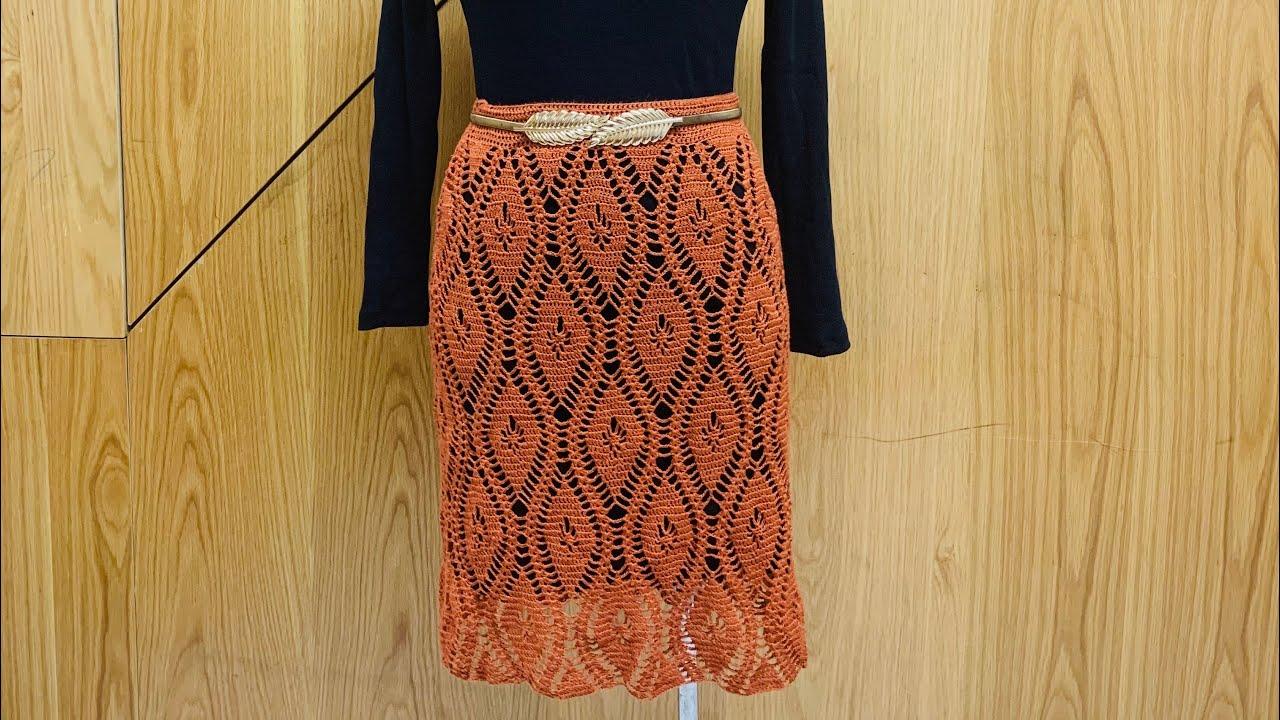 HƯỚNG DẪN MÓC CHÂN VÁY HỌA TIẾT HÌNH THOI ( Phần 2)_ Vân vũ_ Crochet skirt