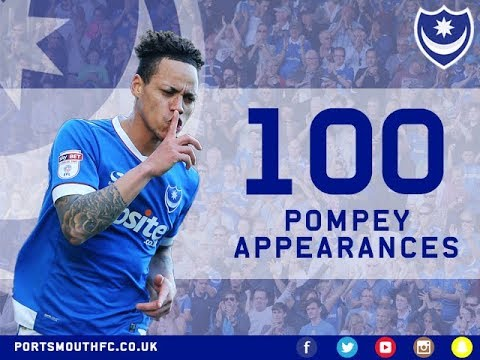 Kyle Bennett on his 100th Pompey appearance against Walsall
