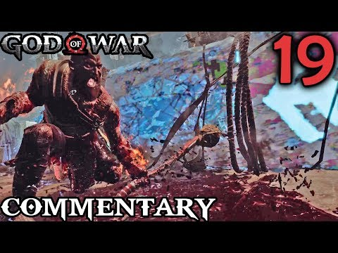 God Of War 4 Gameplay Walkthrough Part 19 - Jarn Fotr Boss Battle Mountain Elevator Ascent