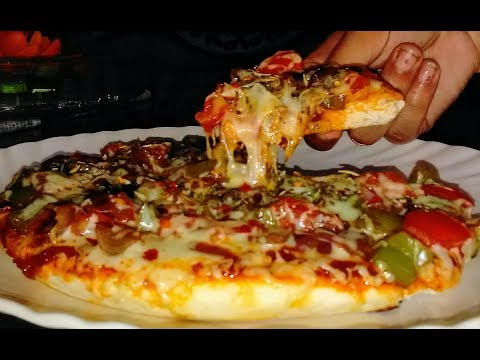 Pizza Recipe-Pizza Recipe on Pan -Dominos Style pizza-Tawa Pizza Without Oven
