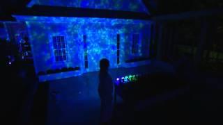 Set Of 2 Indoor Outdoor Kaleidoscope Led Lightshow Projectors With Jane Treacy