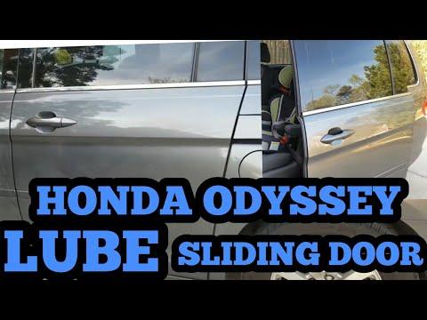 HONDA ODYSSEY HOW TO LUBRICATE SLIDING DOORS ON VAN