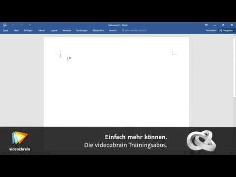 Word 2016 – Grundlagen Tutorial: Die wichtigsten Bedienelemente kennenlernen |video2brain.com