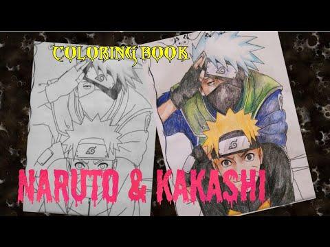Mewarnai Gambar Naruto Dan Kakashi Youtube