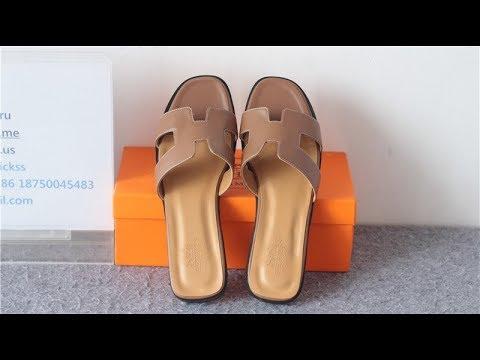 8e0f237fcbf6 Hermes Oran Sandals Slipper