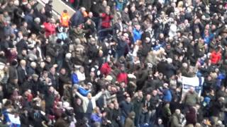 Preston North End Fans go Mental after they score against Manchester United in the F.A. Cup 16.02.15