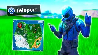 this new teleport glitch works in public matches... (fortnite glitches)