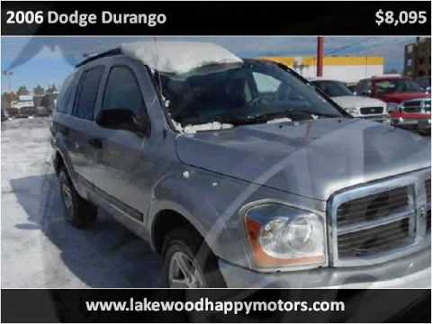 2006 dodge durango used cars lakewood co youtube for Happy motors inc lakewood co