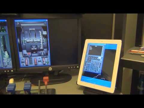 PMDG touchscreen FMS FMC using an iPad