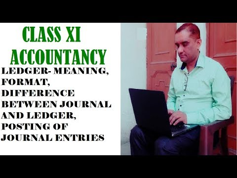 CLASS XI ACCOUNTANCY- LEDGER- MEANING, FORMAT, JOURNAL VS LE
