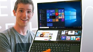 INSANE Dual Screen Laptop! - ASUS Zenbook Pro Duo First Look