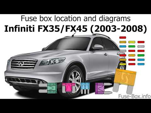 Fuse box location and diagrams: Infiniti FX35/FX45 (2003-2008) - YouTubeYouTube