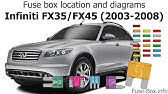 Infiniti Fx35 And Fx45 2003 2008 Fuse Box Diagrams Youtube