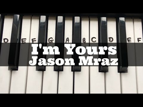 I'm Yours - Jason Mraz | Easy Keyboard Tutorial With Notes (Right Hand)