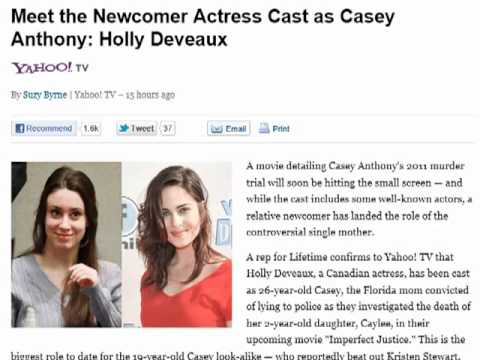 Meet the Newcomer Actress Cast as Casey Anthony Holly Deveaux