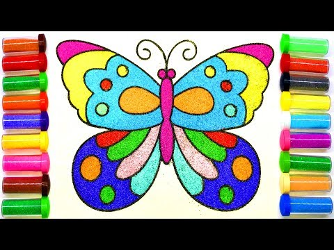 Butterfly Sand Painting | How to Make Sand Painting | Sand Painting art for Kids