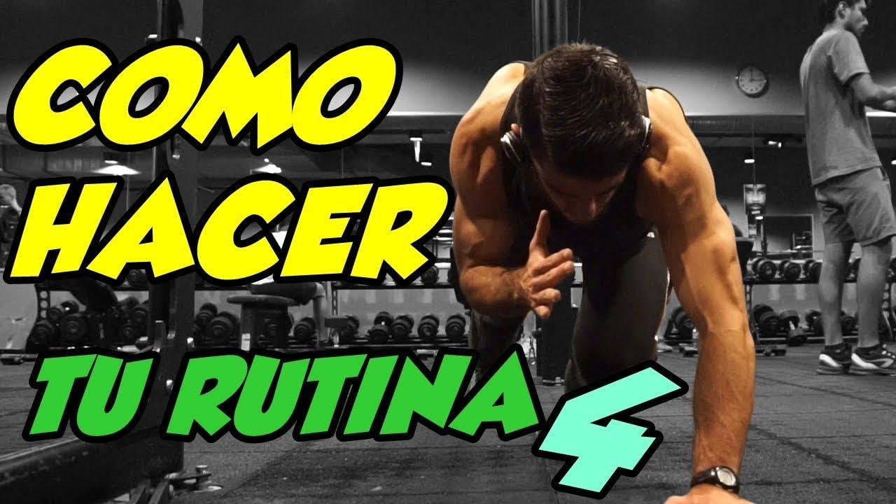 Como hacer mi rutina en el gym