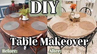 DIY KITCHEN TABLE MAKËOVER | How to Refinish a Table | Beginner Friendly