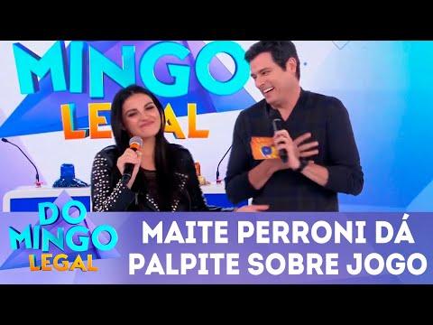 Maitê Perroni arrisca palpite para Brasil x México   Domingo Legal (01/07/2018)
