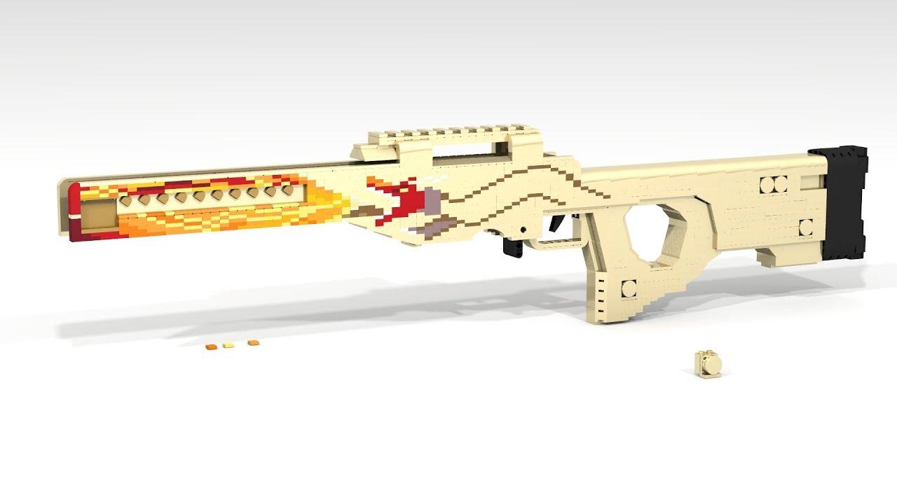 Custom Lego Gun Moc Failed Awp Dragon Lorecsgo Youtube