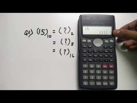 Number System Conversion - Decimal, Binary, Octal & Hexadecimal | Scientific Calc