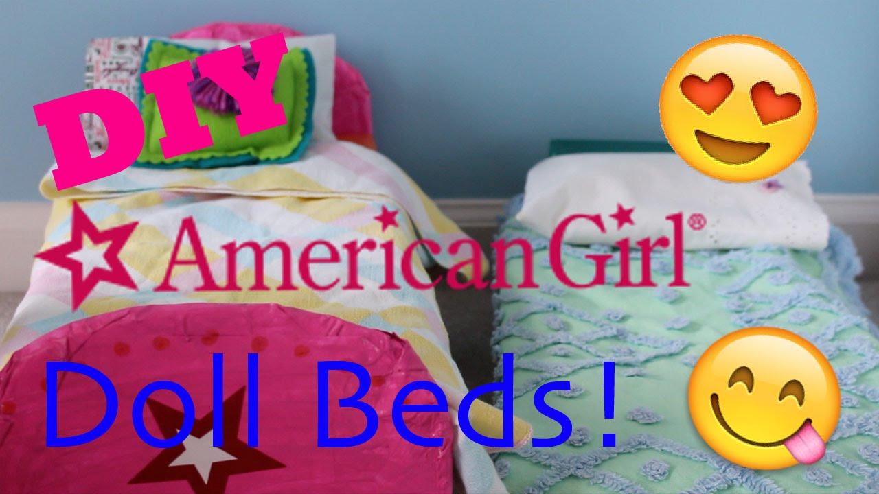 Diy American Girl Doll Bed Youtube