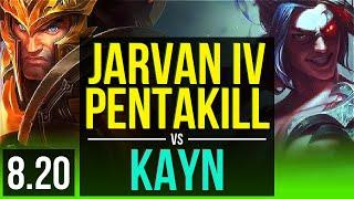 JARVAN IV vs KAYN (JUNGLE) | Pentakill, KDA 14/1/11, Legendary | EUW Diamond | v8.20