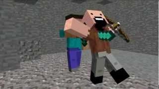 Анимация Minecraft   Notch Vs Herobrine