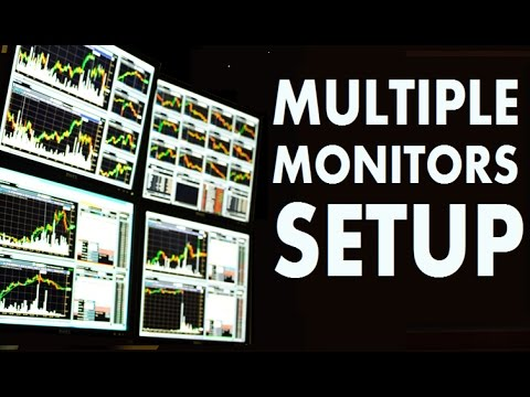 Multiple Monitors Setup for Day Trading Stocks