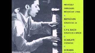 Glenn Gould - CBC Broadcast Recital (08 - 02 - 1968) - Beethoven, CPE Bach, Scarlatti, Scriabin
