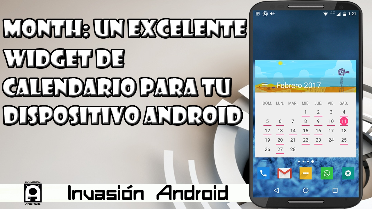 Calendario Android Widget.Month Un Excelente Widget De Calendario Para Android
