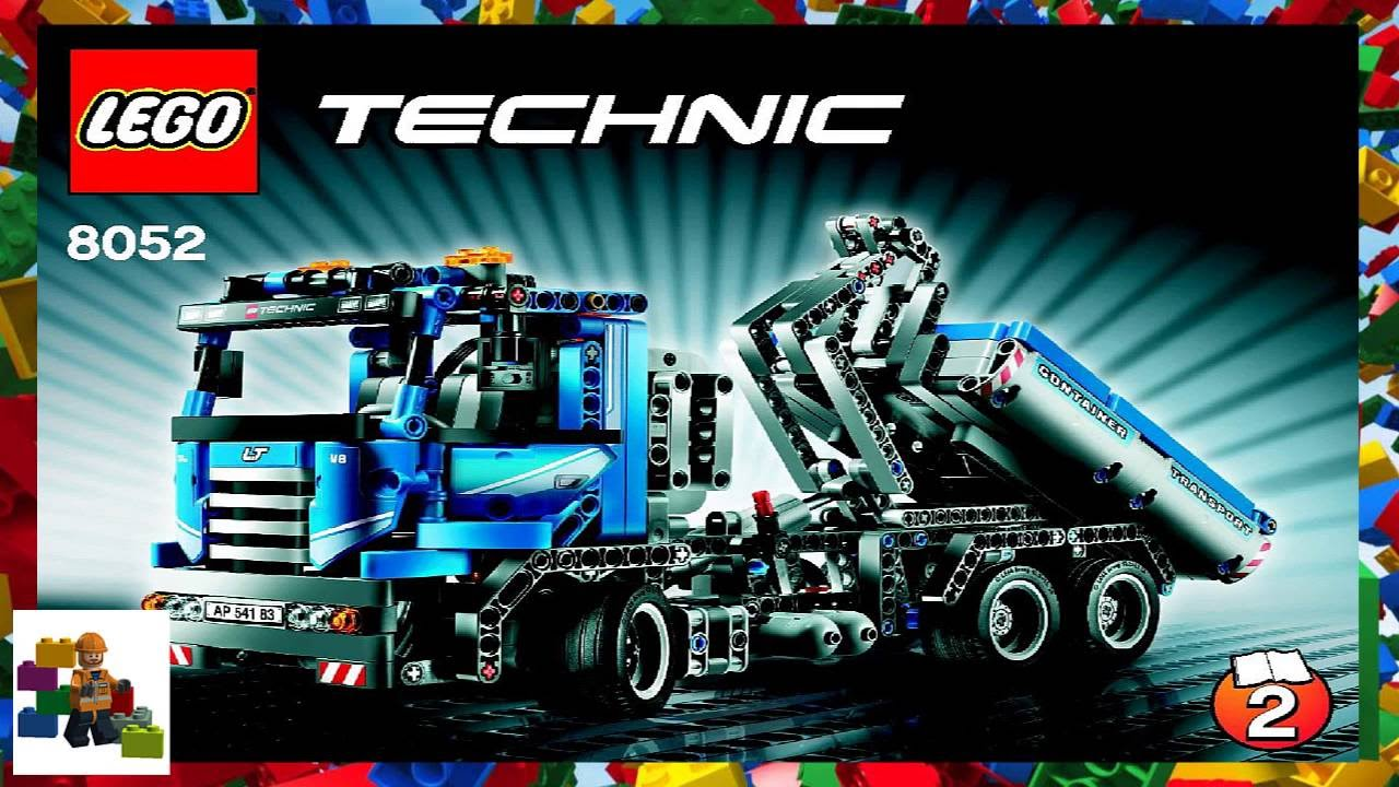Lego Instructions Technic 8052 Container Truck Book 2 Youtube