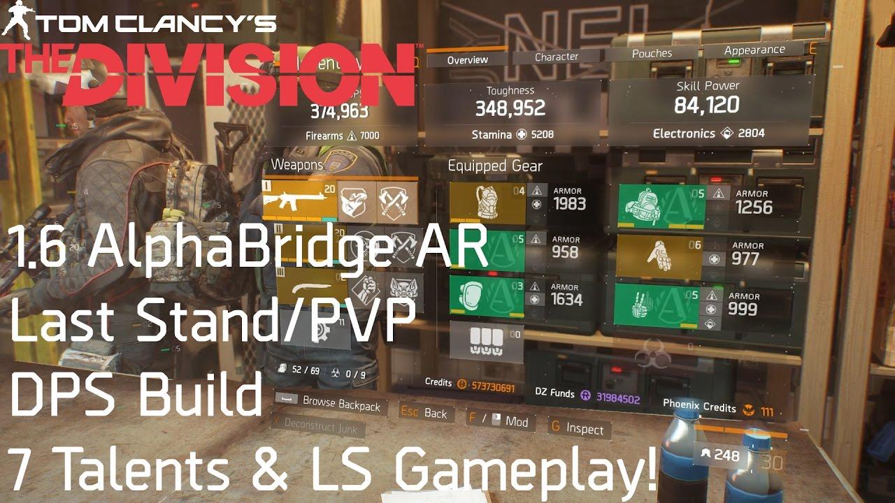 Alphabridge AR Last Stand/PVP DPS build (7 Talents) + Last ...