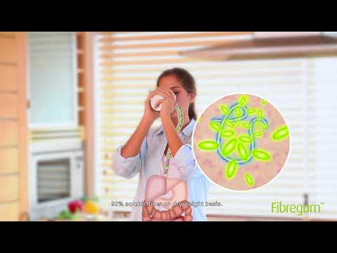 Fibregum™ (organic acacia fiber) benefits on digestive health