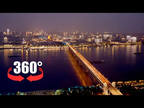 360 Video | Light show staged in Wuhan to mark China's National Day, Mid-Autumn Festival