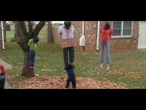 Offensive Display of Black People Hanging From Tree in ...