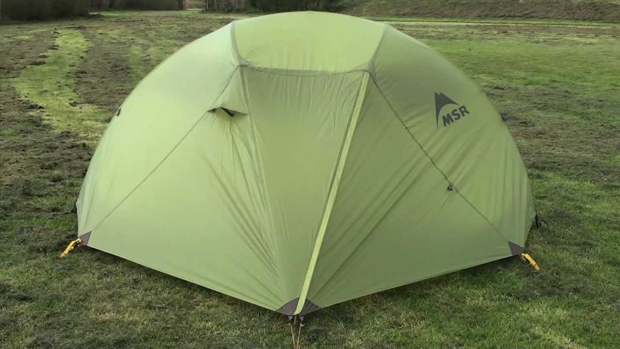 MSR Hoop 2 Person Tent - 4 Season Backpacking Lightweight Tent - YouTube : hoop tent - memphite.com