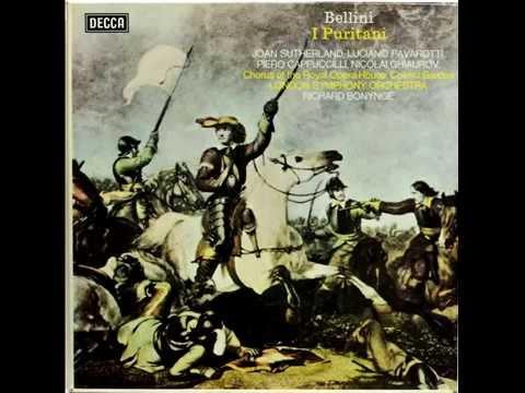 Bellini - I Puritani - Ah! sento o mio bell'angelo (Joan Sutherland, Luciano Pavarotti) 1973