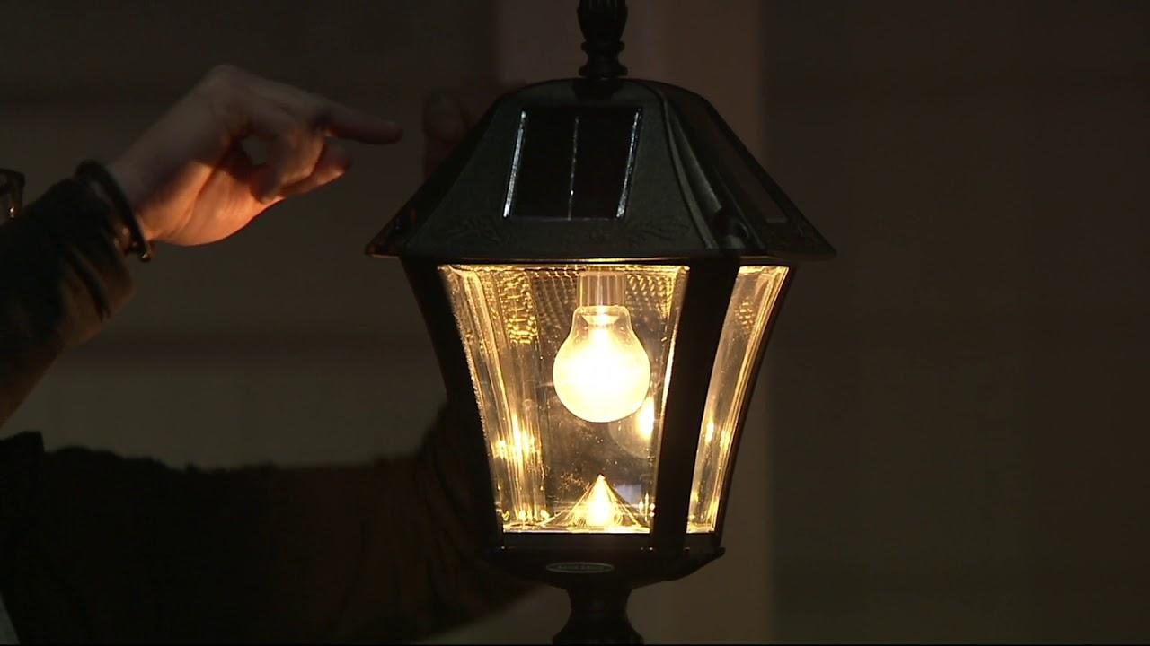 Gama Sonic 6 5 Solar Lamp Post With Planter Led Light Bulb On Qvc