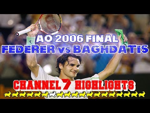 EXCLUSIVE! ● Federer v Baghdatis ● Final Australian Open 2006 Highlights