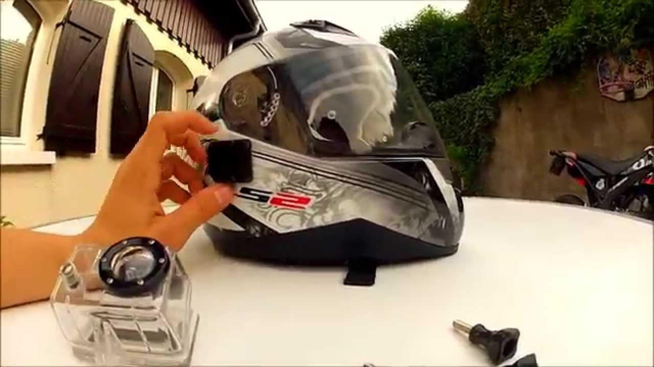 tuto comment installer une go pro sur un casque pour moto ou autre hd youtube. Black Bedroom Furniture Sets. Home Design Ideas
