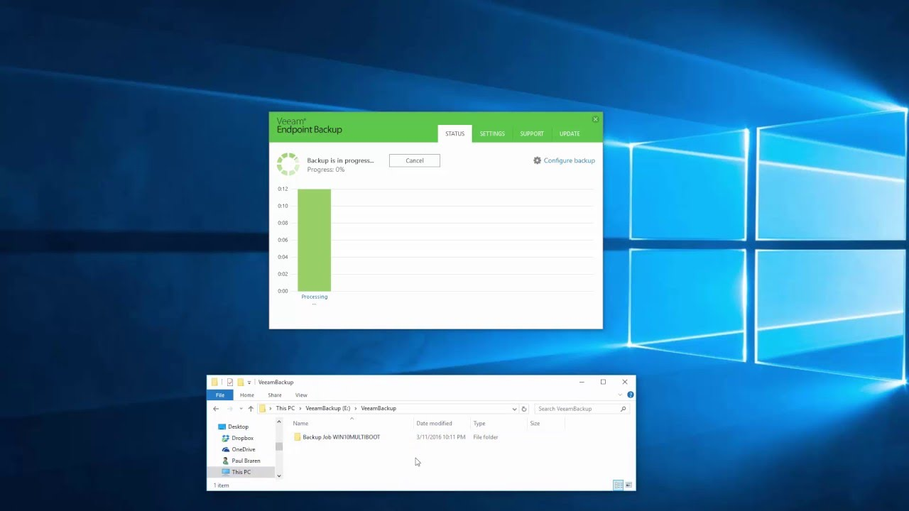 How to manually reset your Veeam Endpoint Backup FREE backups database