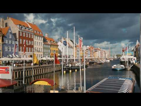 [No Copyright 4K Video] European City, Copenhagen, Denmark